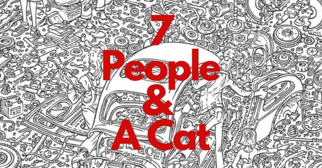 7 Persons and a cat title image